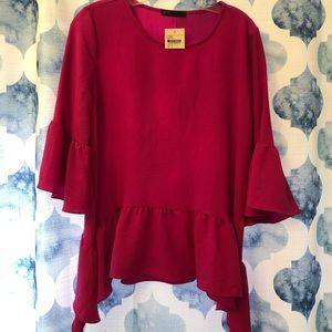 NWT Gibson pink blouse